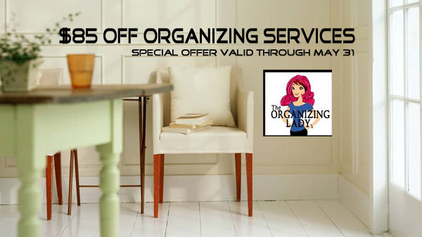 $85 off home and business organizing services