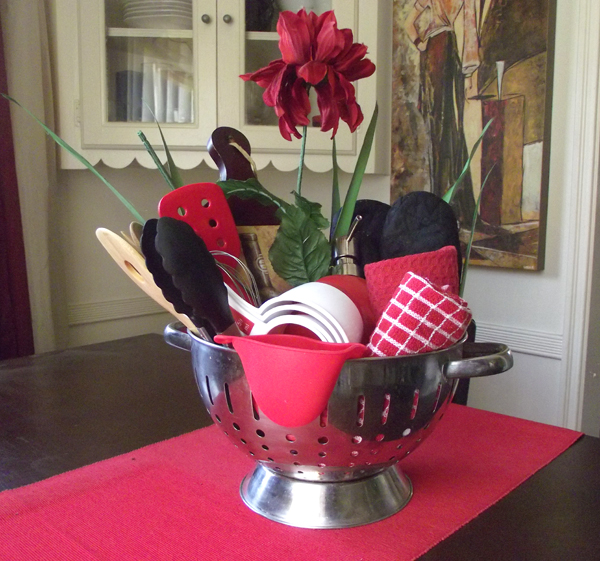Kitchen Gadgets Gift Basket | The Organizing Lady on gardening basket, vegetables basket, kitchen accessories basket, game night basket, kitchen tool basket, new dog basket, kitchen gift basket, kitchen utensil basket, pasta basket, kitchen christmas basket, kitchen wedding basket, pizza basket,