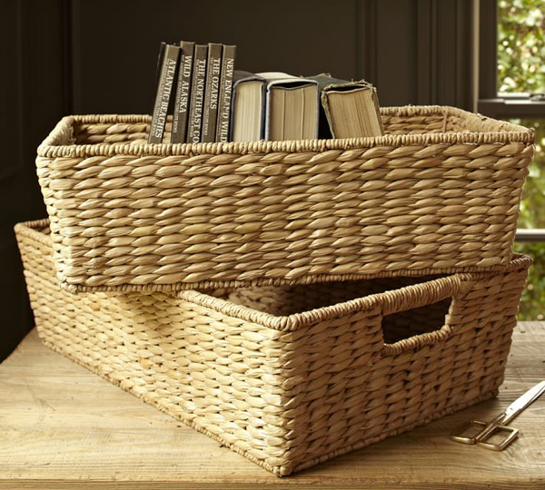 Living-room-storage-basket