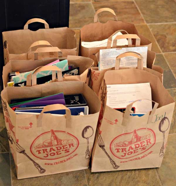 grocery bags use