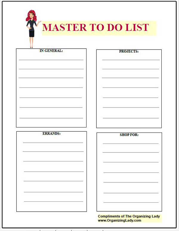 List It With Styled Checklists To Help Keep You Organized ...