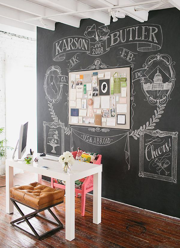 office chalkboard wall