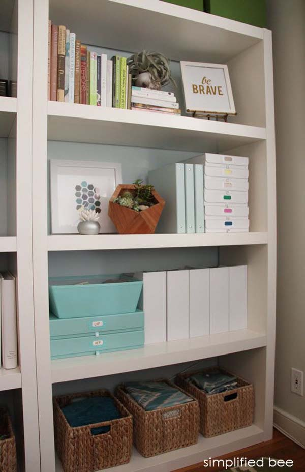 home office-materials-shelf