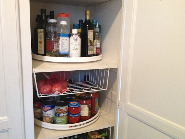maximize space in food pantry