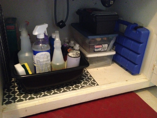 under the sink storage bins