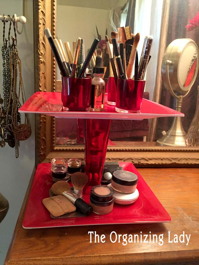 tiered makeup organizer