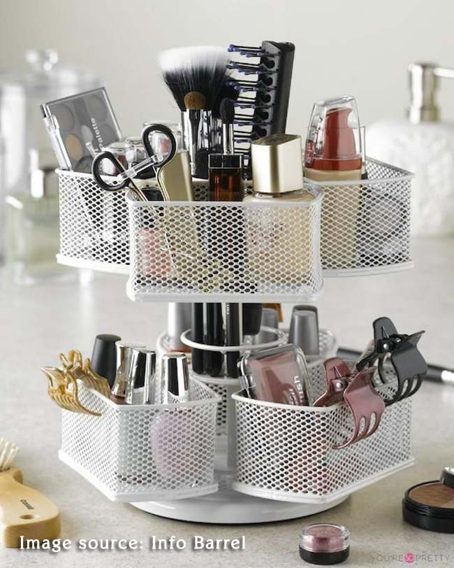 makeup organizer from QVC