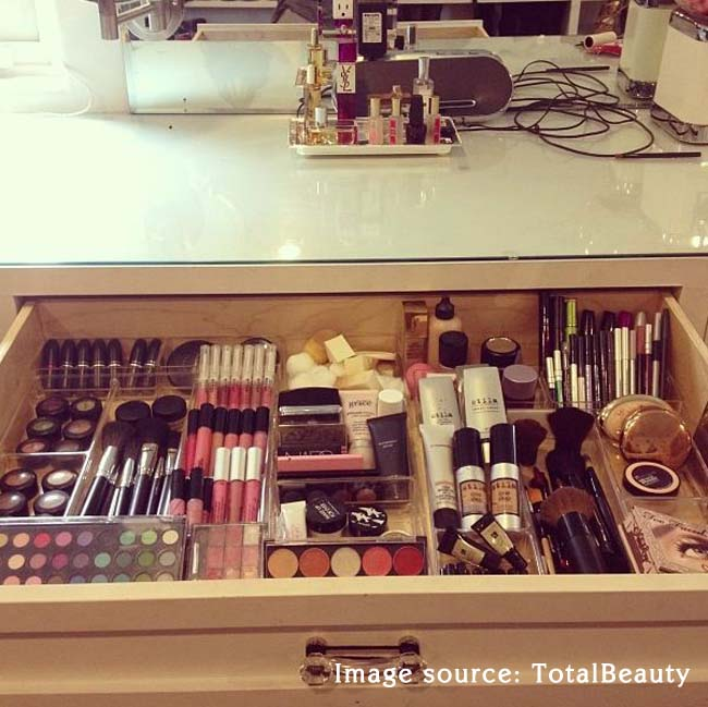 vanity drawer makeup organizer