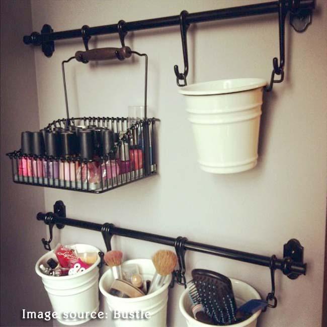 ikea makeup organizer hack