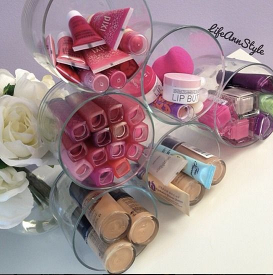 DIY makeup organizer