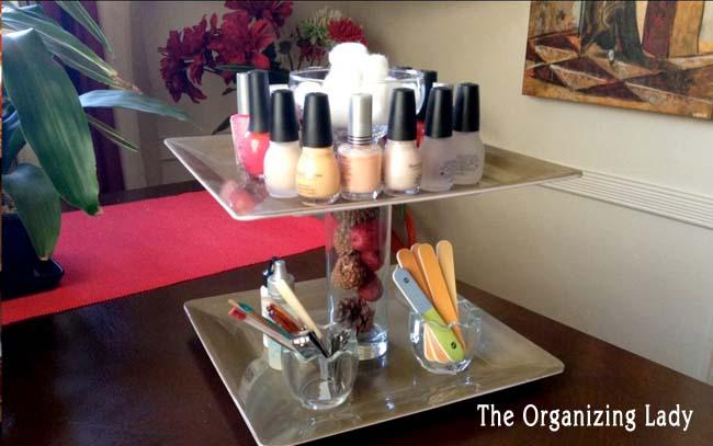 nail polish tiered plate organizer