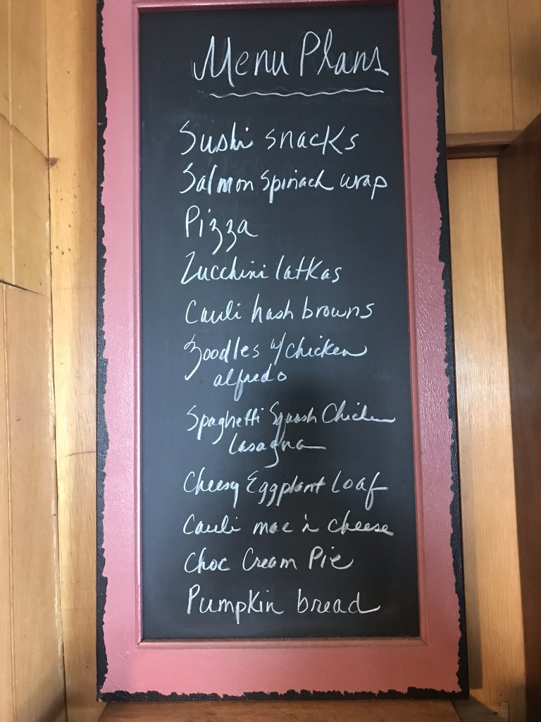 meal planning menu board