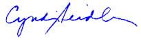 Cyndi Seidler, signature