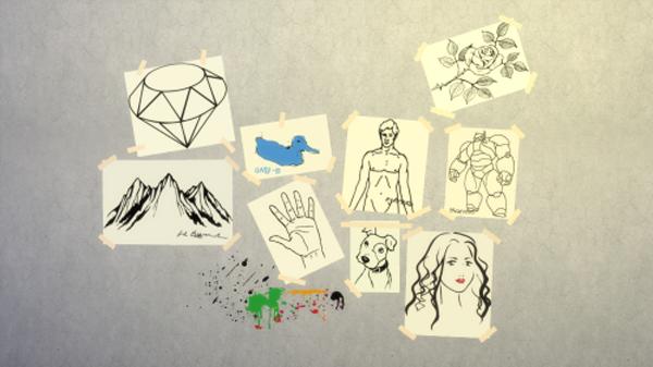 kid-drawing-art wall