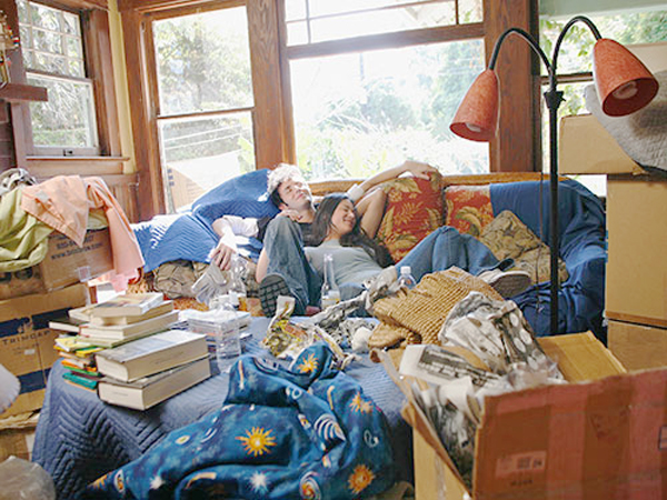 couple in clutter