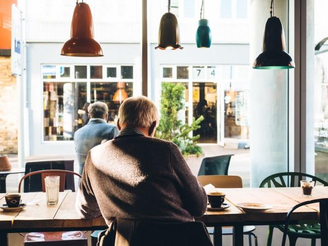 man at coffee shop