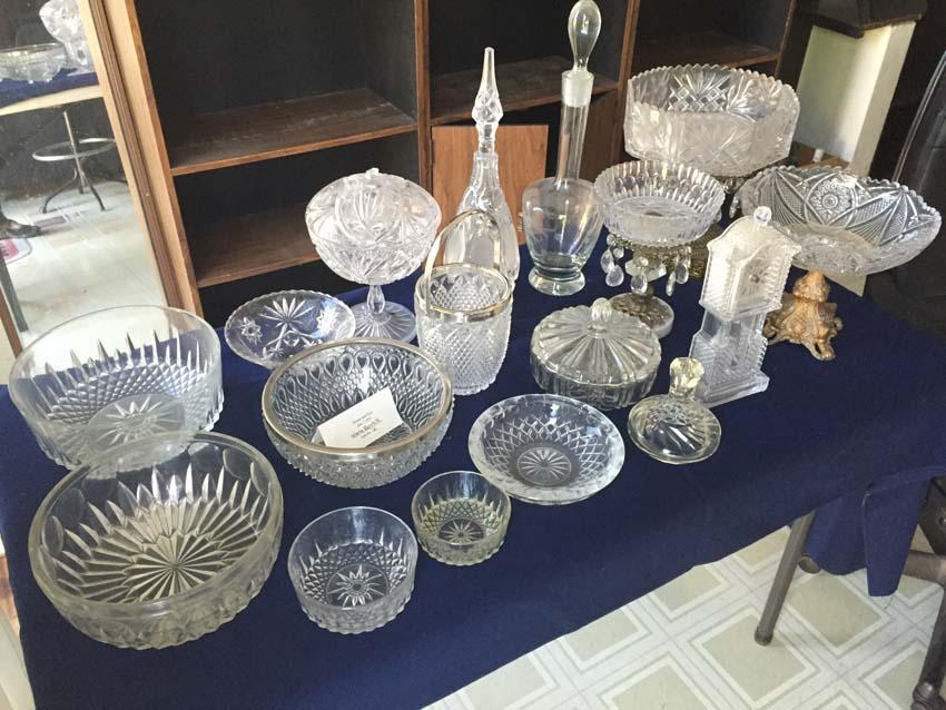 glass crystal table