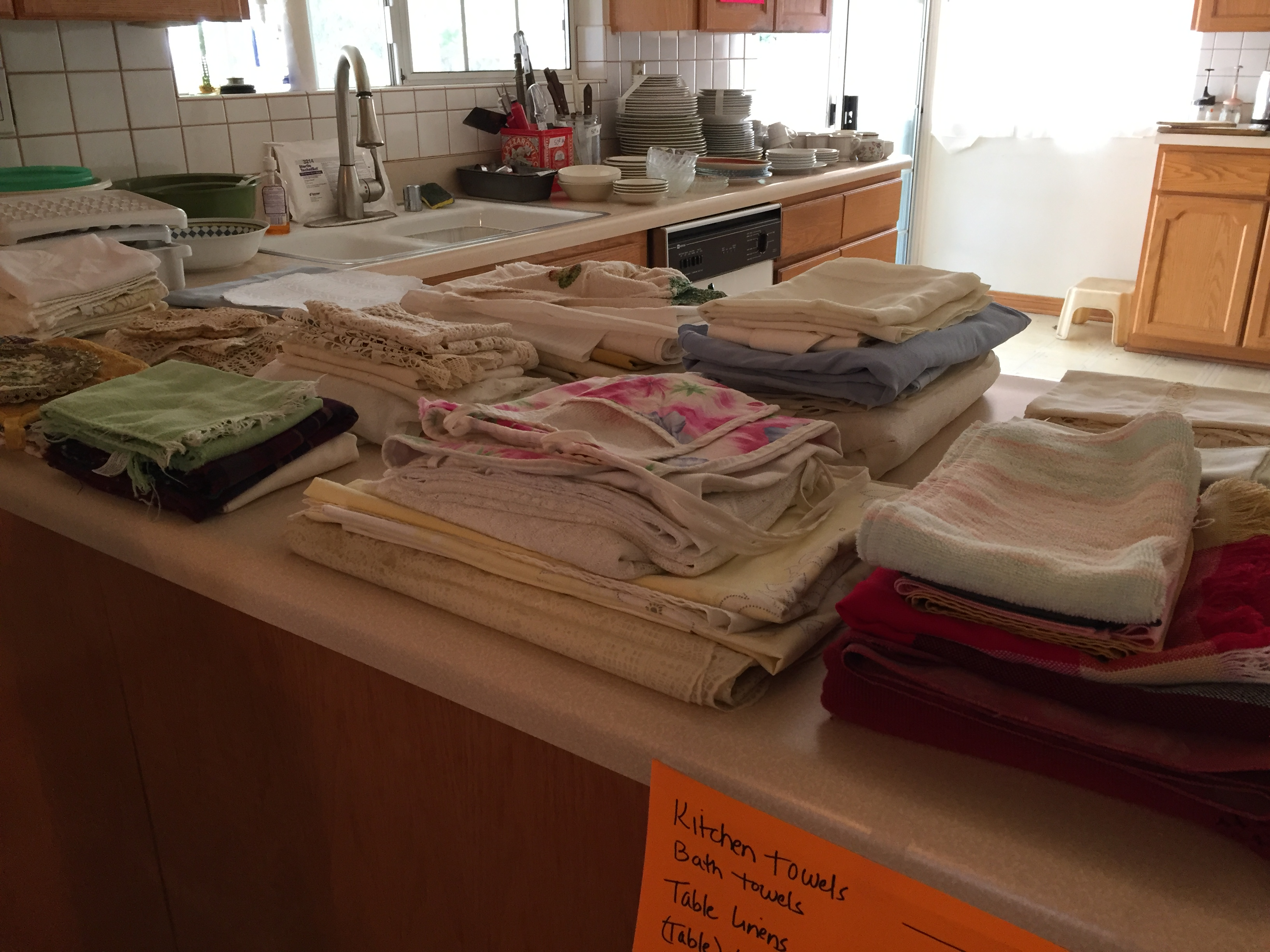 kitchen and table linen display
